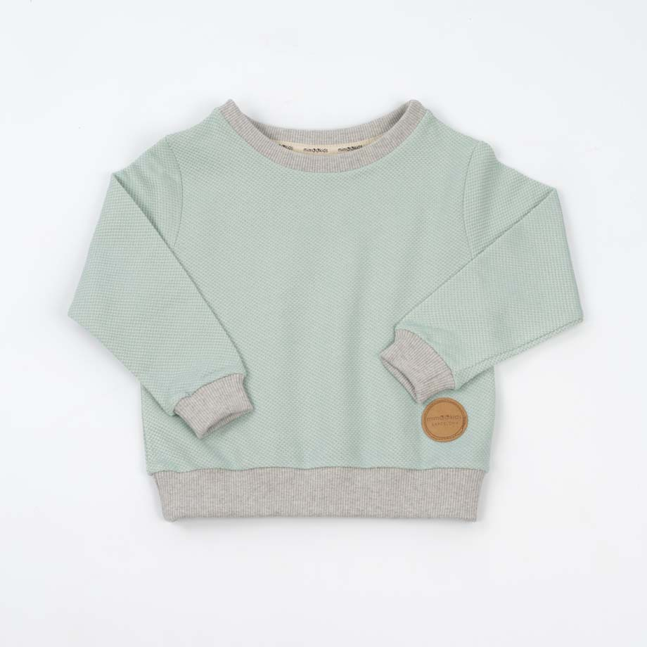 mimOOkids Tops Easy-Dressing Sweater Mint Pique (5)