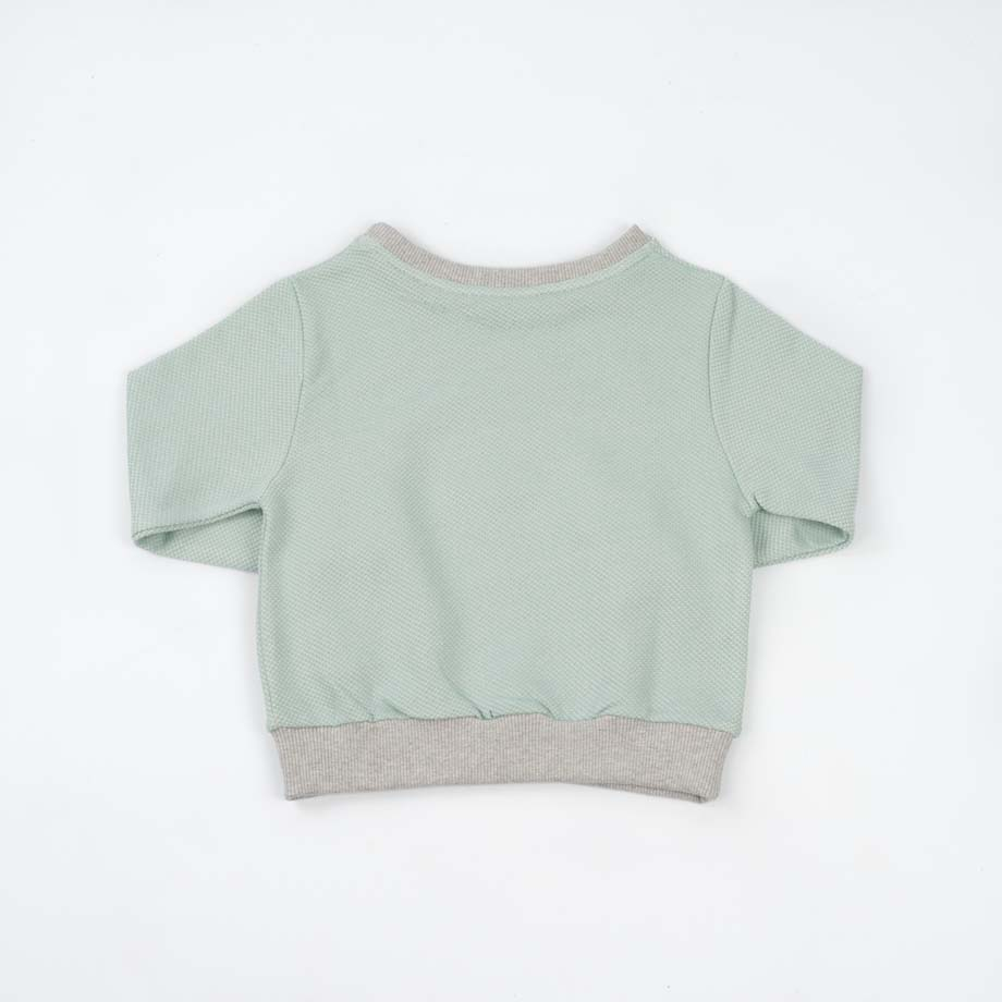 mimOOkids Tops Easy-Dressing Sweater Mint Pique (6)