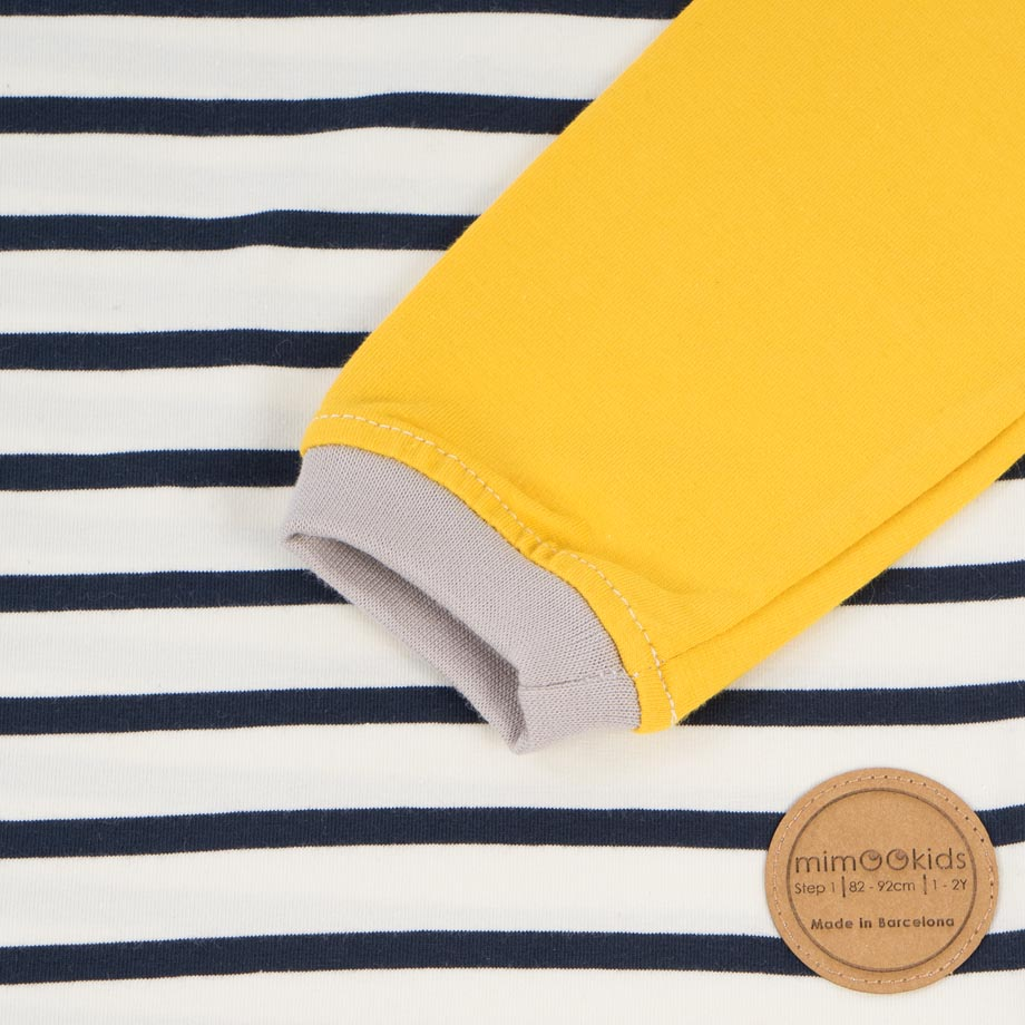 mimOOkids Tops Easy-dressing shirt Stripes Yellow (3)