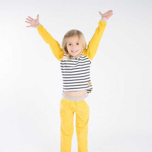 mimOOkids Tops Easy-dressing shirt Stripes Yellow (5)