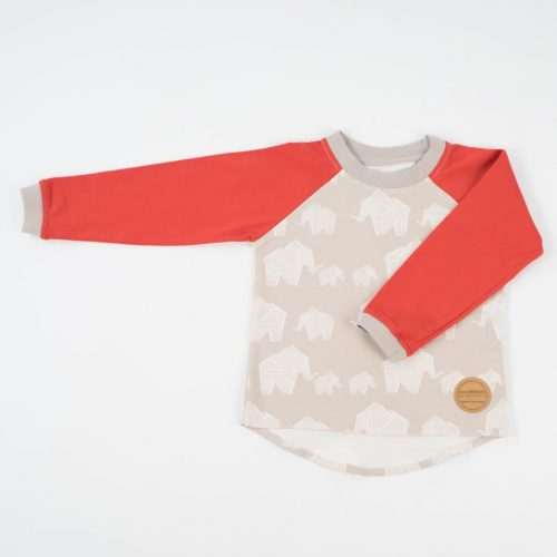 mimOOkids Tops Easy-dressing shirt red elephants (1)
