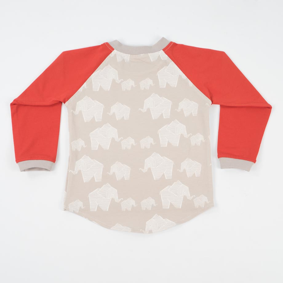 mimOOkids Tops Easy-dressing shirt red elephants (2)