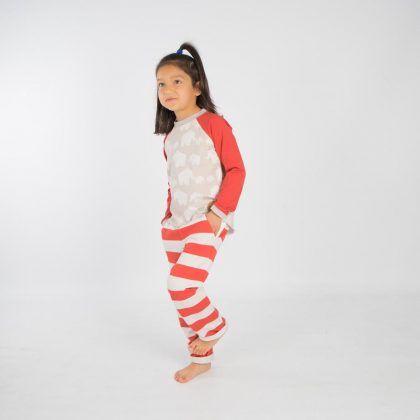 mimOOkids Tops Easy-dressing shirt red elephants (4)