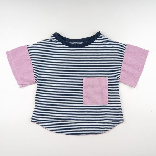 mimOOkids Tops Oversize Shirt Stripes Rose (3)