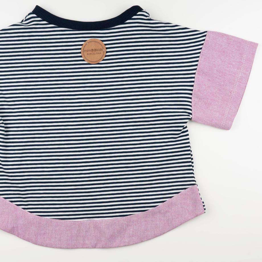 mimOOkids Tops Oversize Shirt Stripes Rose (4)