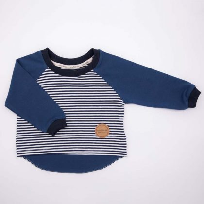 mimOOkids Tops Shirt Long Sleeve Stripes Petrol (2)