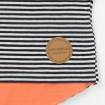 mimOOkids Tops Shirt Short Sleeve Stripes & Papaya (3)