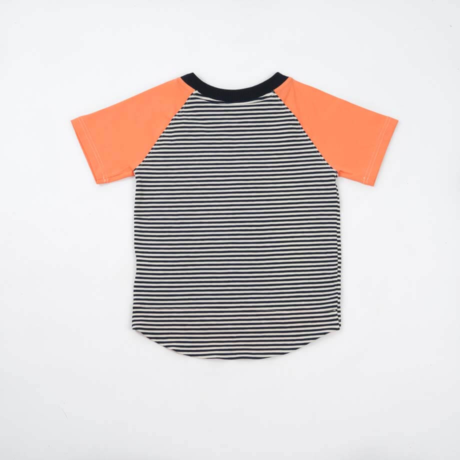 mimOOkids Tops Shirt Short Sleeve Stripes & Papaya (5)