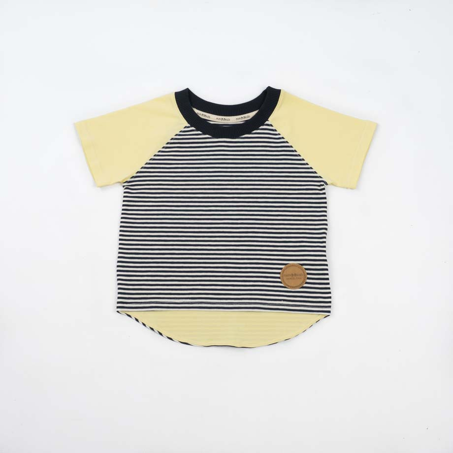 mimOOkids Tops Shirt Short Sleeve Stripes Vainilla (4)