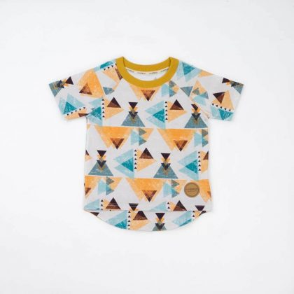 mimOOkids Tops Shirt Short Sleeve Triangles (4)