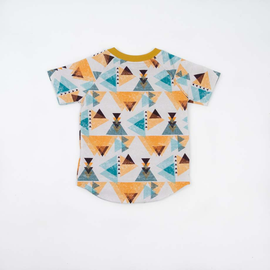 mimOOkids Tops Shirt Short Sleeve Triangles (5)
