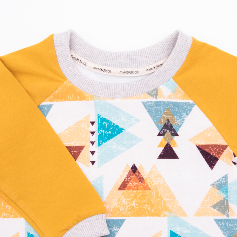 mimOOkids Tops Shirt easy-dressing triangles (4)