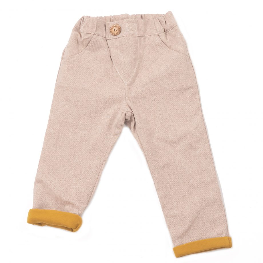 MIMOOKIDS LINED CLOSE ME PANT SAND (6)