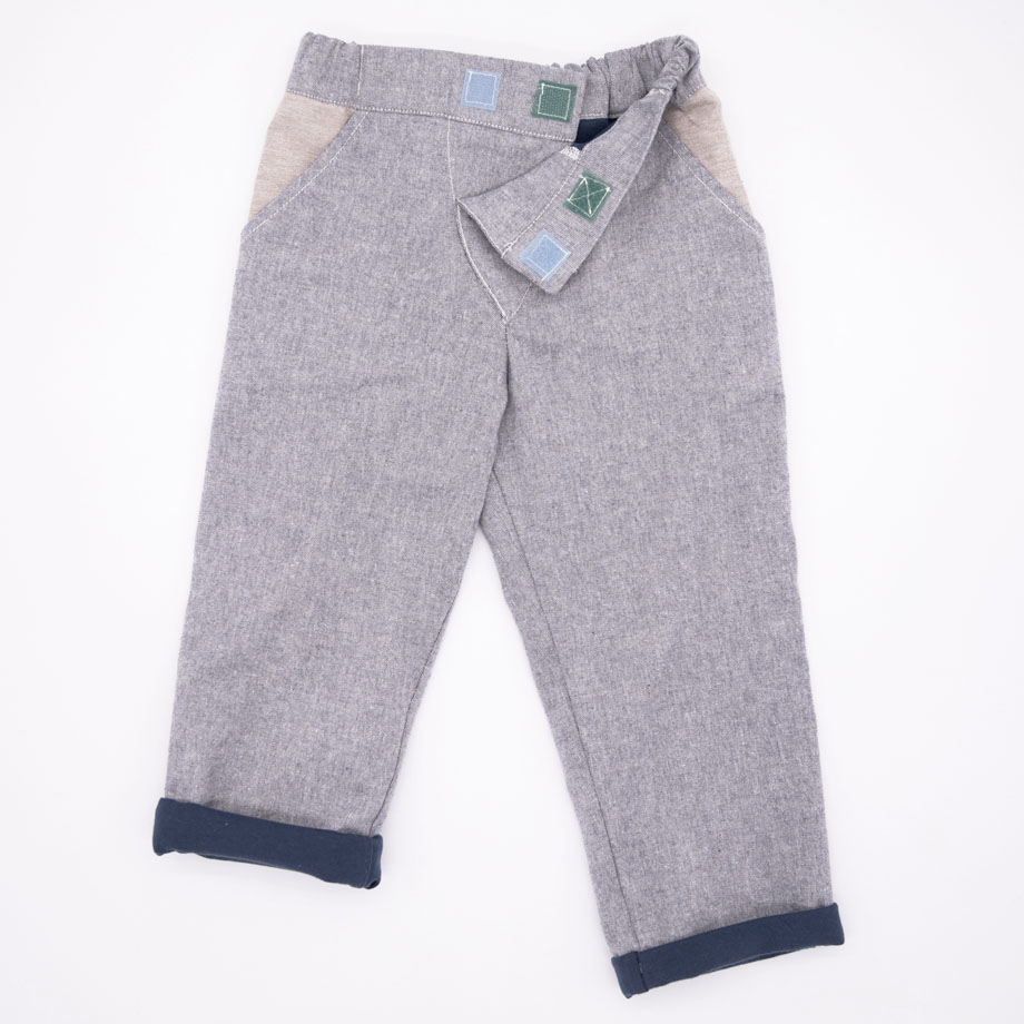 MIMOOKIDS - CLOSE-ME LINED PANTS - DENIM (5)