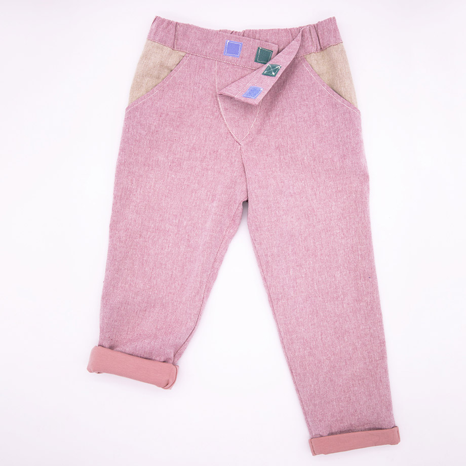 MIMOOKIDS - CLOSE-ME LINED PANTS - ROSE (1)