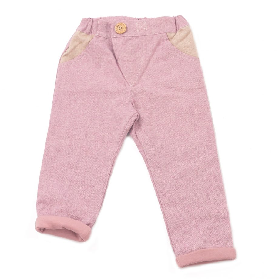 MIMOOKIDS - CLOSE-ME LINED PANTS - ROSE (3)