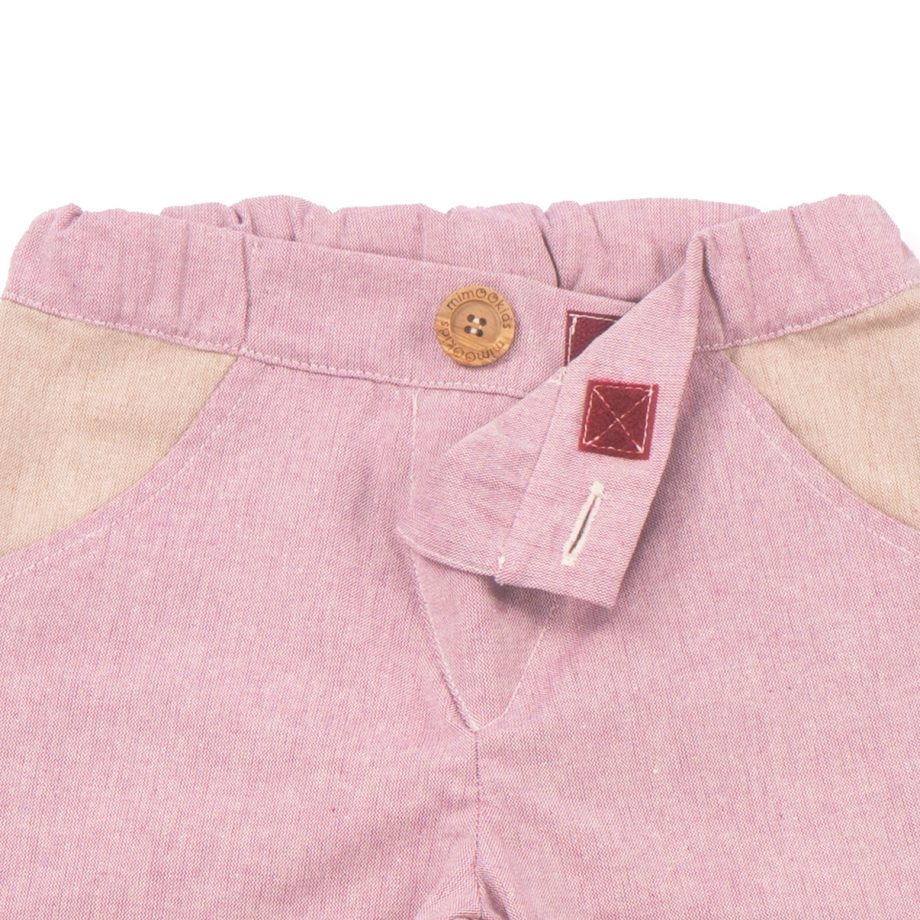 MIMOOKIDS - CLOSE-ME LINED PANTS - ROSE (4)