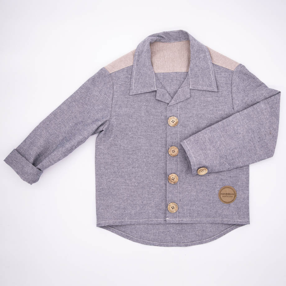 MIMOOKIDS - CLOSE-ME SHIRT - DENIM (1)