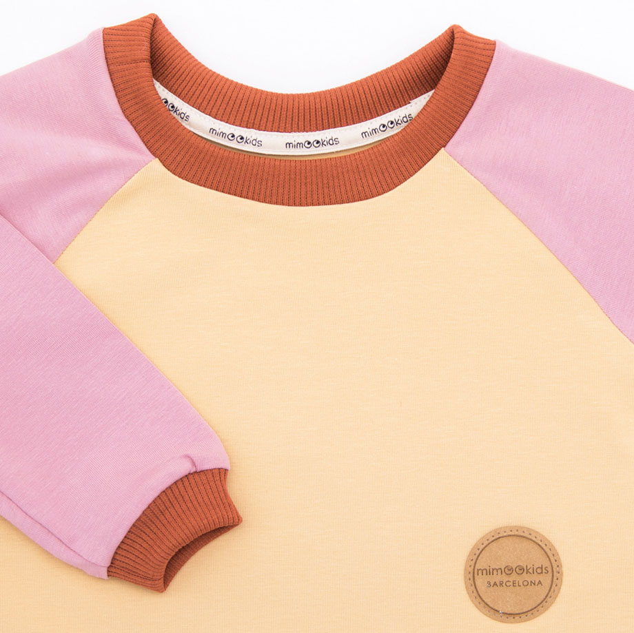 MIMOOKIDS- EASY DRESSIN SHIRT ROSE-SAND (1)