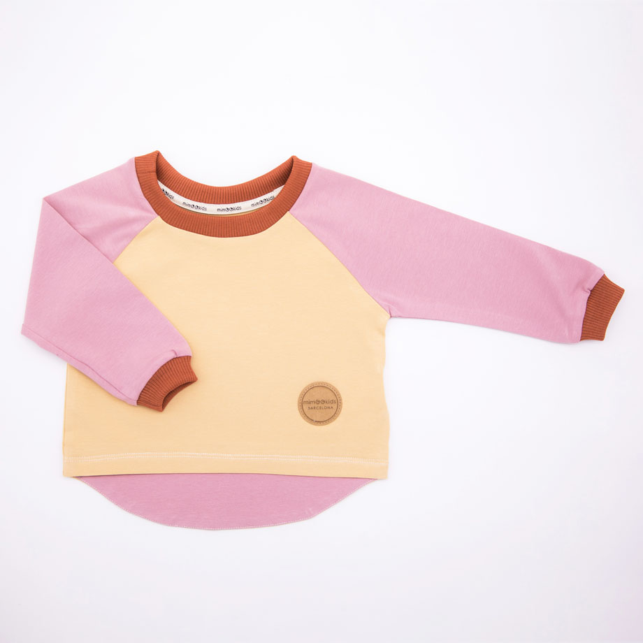MIMOOKIDS- EASY DRESSIN SHIRT ROSE-SAND (2)