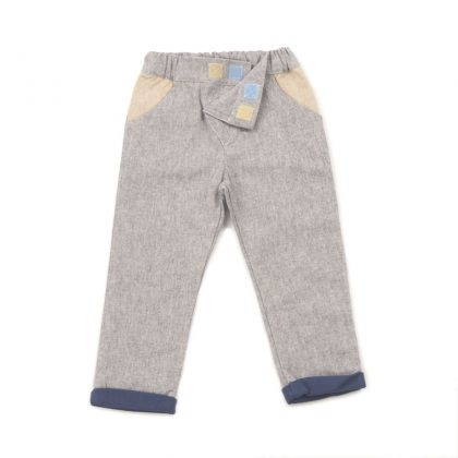 MIMOOKIDS - LINED CLOSE-ME PANT DENIM PETROL (8)