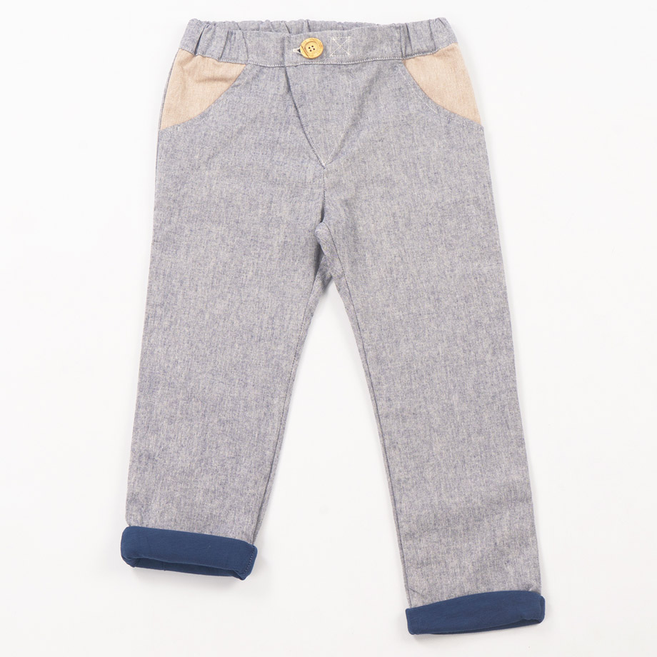 MIMOOKIDS - LINED CLOSE-ME PANT DENIM PETROL_2