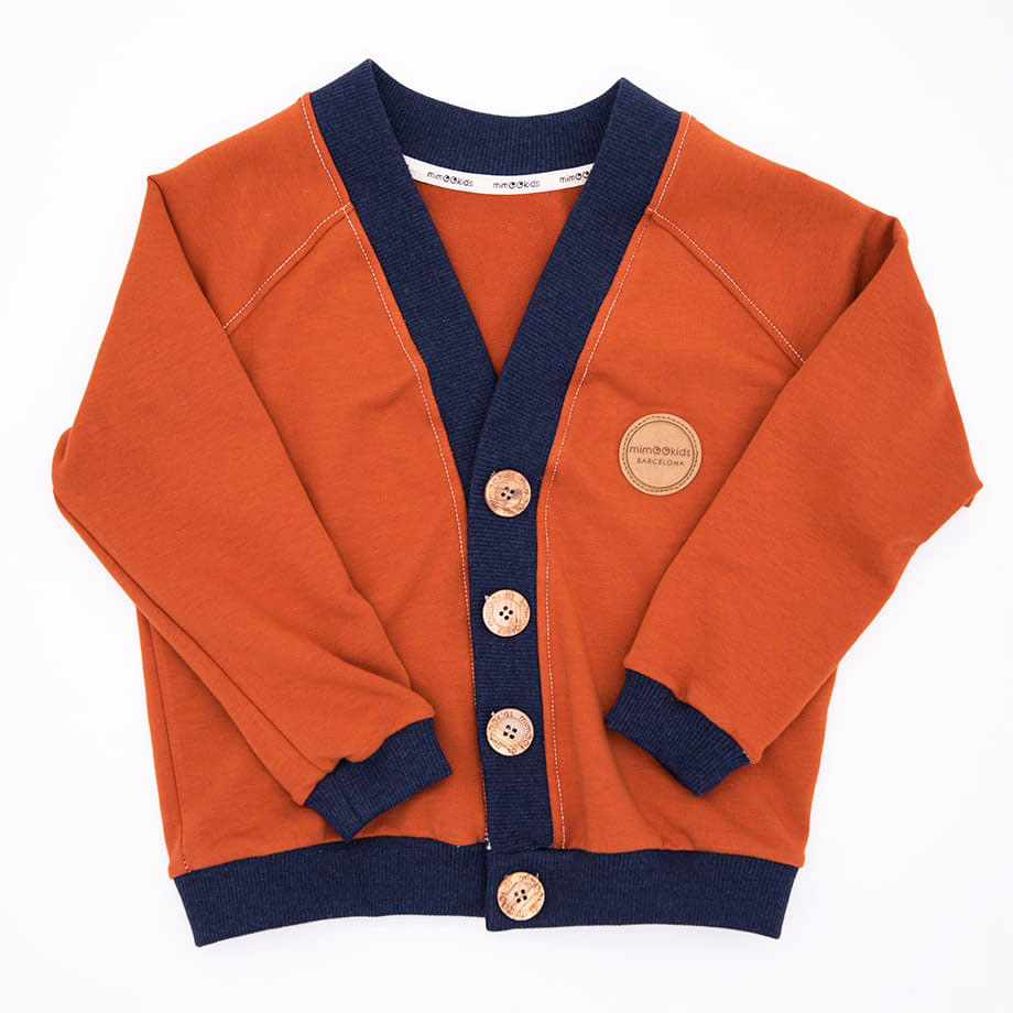 CLOSE ME CARDIGAN - CINNAMON - NAVY (1)