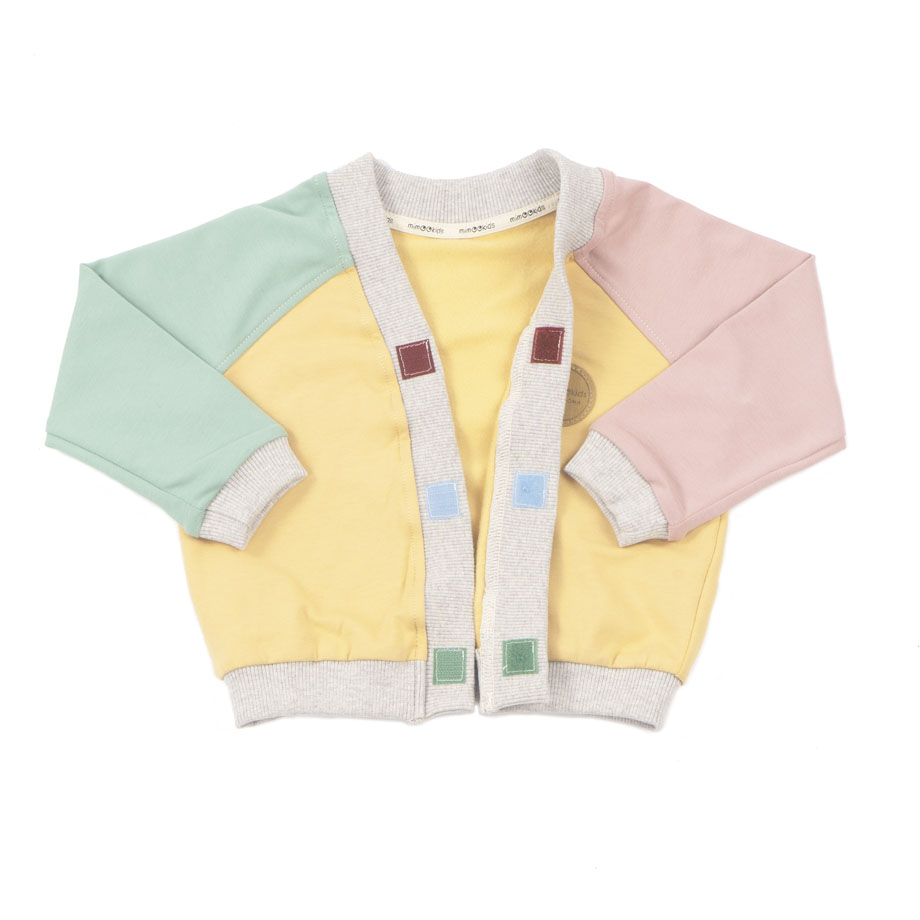 MIMOOKIDS - CLOSE-ME CARDIGAN-APPLE-SAND-ROSE (10)