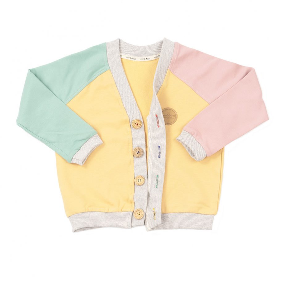 MIMOOKIDS - CLOSE-ME CARDIGAN-APPLE-SAND-ROSE (11)