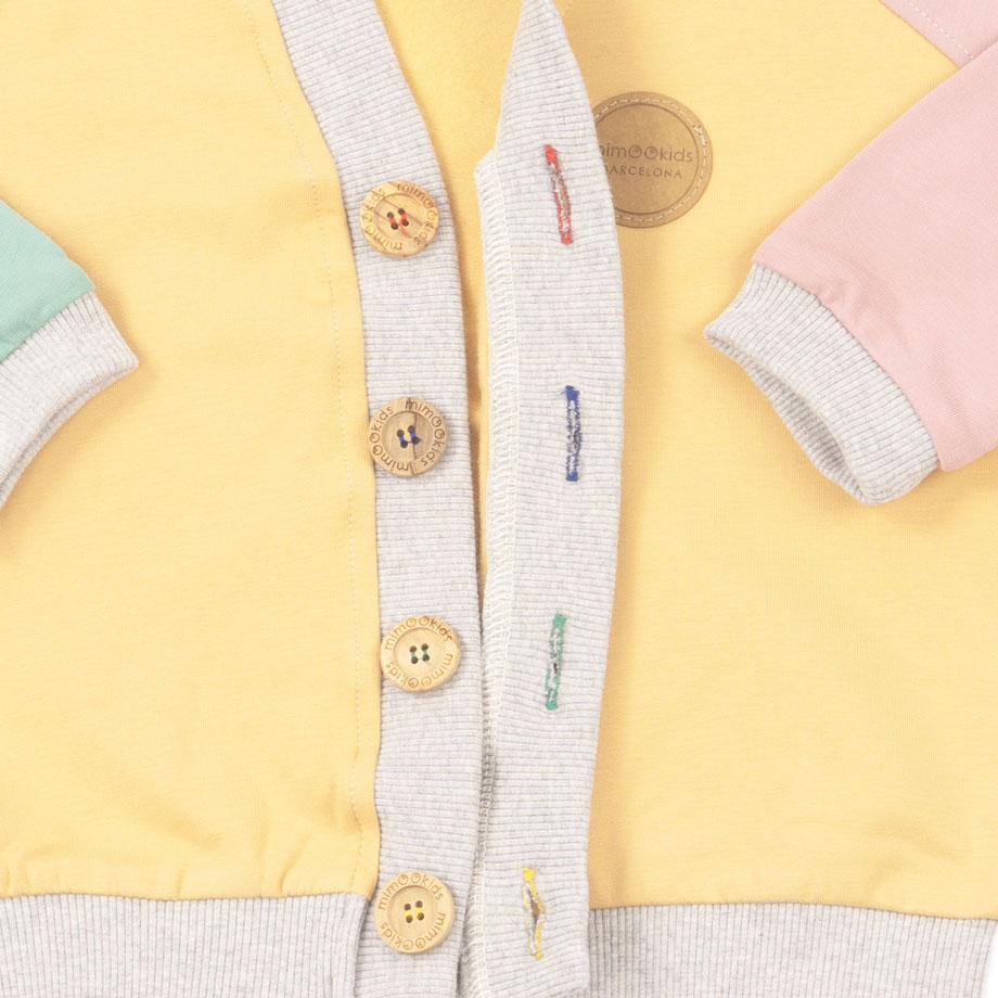 MIMOOKIDS - CLOSE-ME CARDIGAN-APPLE-SAND-ROSE (8)