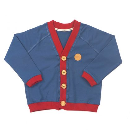 MIMOOKIDS -CLOSE ME CARDIGAN - PETROL - CHILI (13)