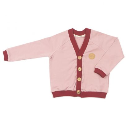 MIMOOKIDS - CLOSE-ME CARDIGAN ROSE-CHILI (1)