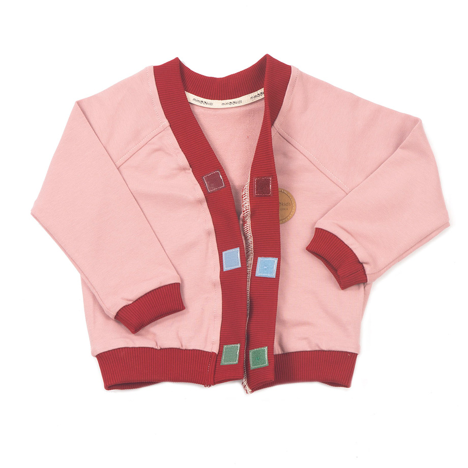 MIMOOKIDS - CLOSE-ME CARDIGAN ROSE-CHILI (10)