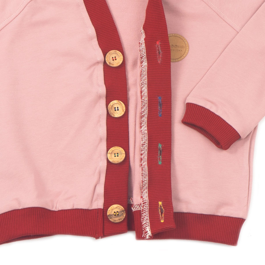 MIMOOKIDS - CLOSE-ME CARDIGAN ROSE-CHILI (3)