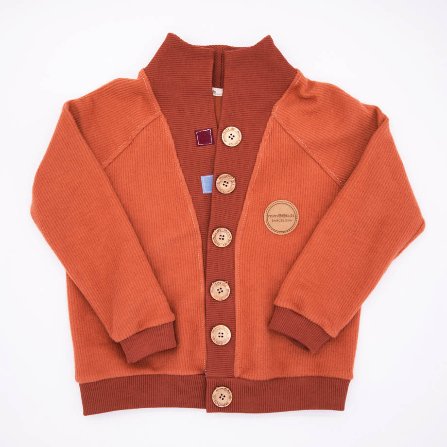 MIMOOKIDS - CLOSE-ME CARDIGAN TURTLE NECK - CARAMEL (8)