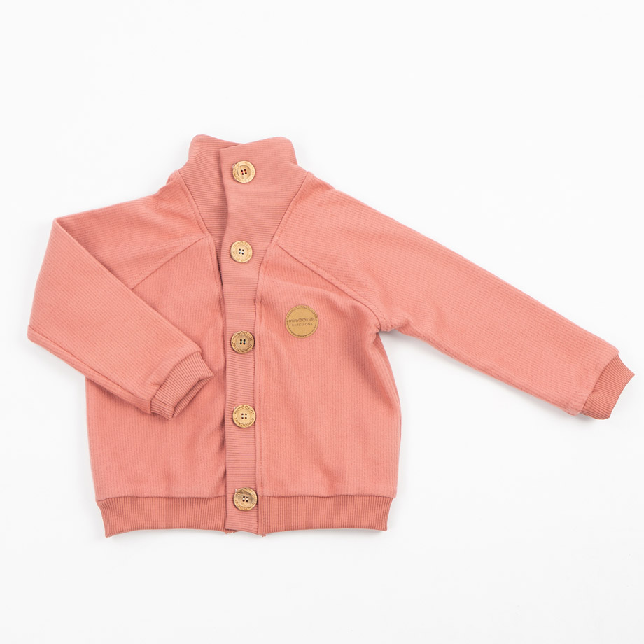 MIMOOKIDS - CLOSE-ME CARDIGAN TURTLE NECK - FRAMBUESA (9)