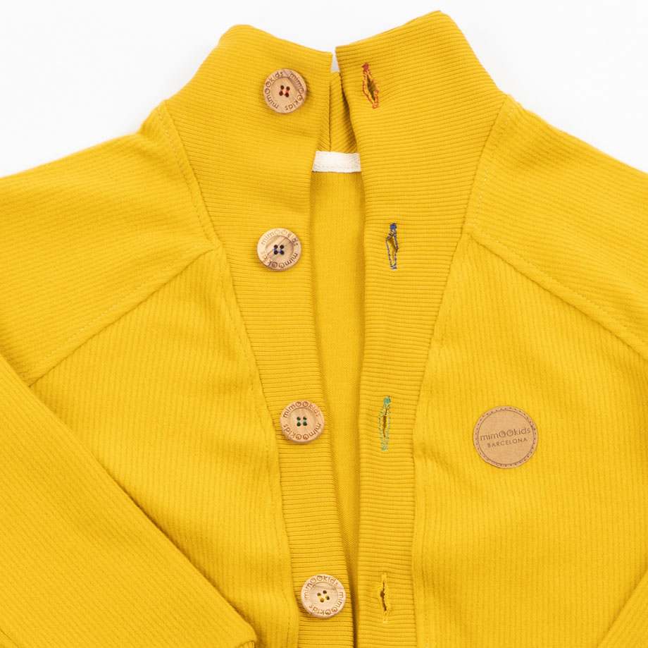MIMOOKIDS-CLOSE ME CARDIGAN V NECK - HONEY (6)