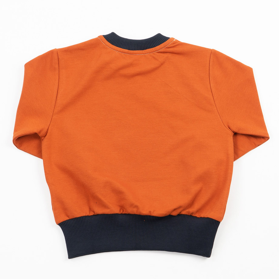 MIMOOKIDS - EASY DRESSING SWEATER CINNAMON-NAVY (4)