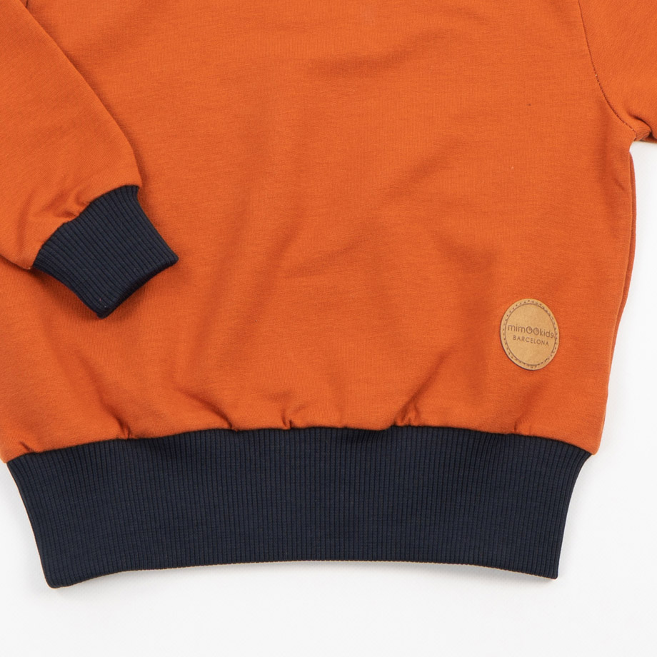 MIMOOKIDS - EASY DRESSING SWEATER CINNAMON-NAVY (5)