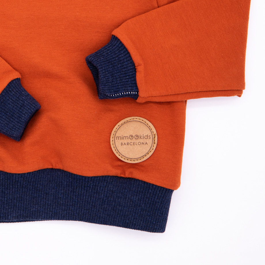 MIMOOKIDS - EASY DRESSING SWEATER CINNAMON-NAVY (6)