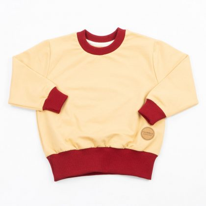 MIMOOKIDS - EASY DRESSING SWEATER-SAND-CHILI (4)