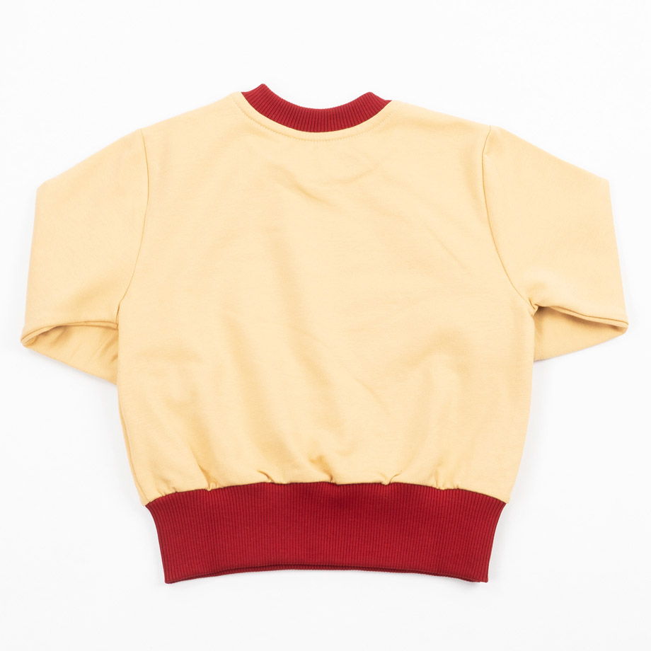 MIMOOKIDS - EASY DRESSING SWEATER-SAND-CHILI (6)