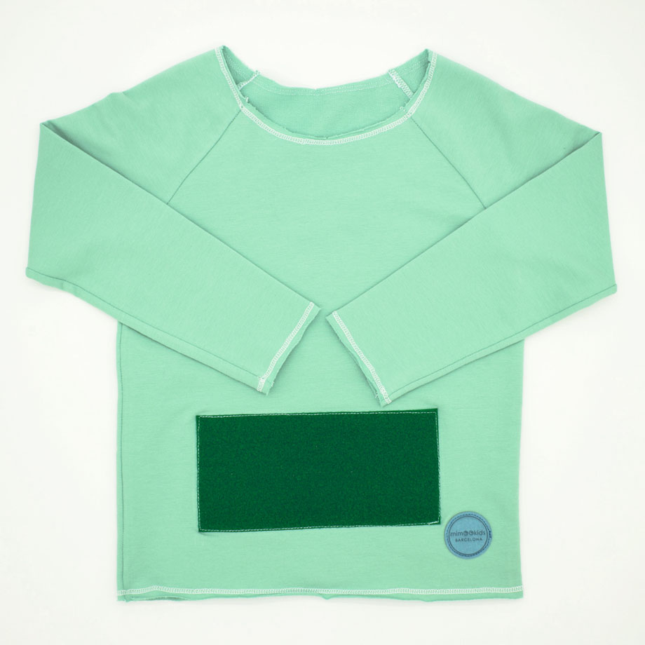 MIMOOKIDS - PLAY WITH ME SWEATER-APPLE GREEN (1)