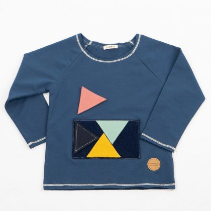 MIMOOKIDS -PLAY WITH ME SWEATER PETROL (3)