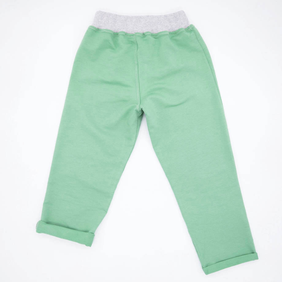 MIMOOKIDS -PULL-ME-UP PANT - APPLE GREY (10)