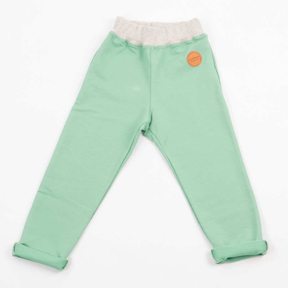MIMOOKIDS -PULL-ME-UP PANT - APPLE GREY (3)