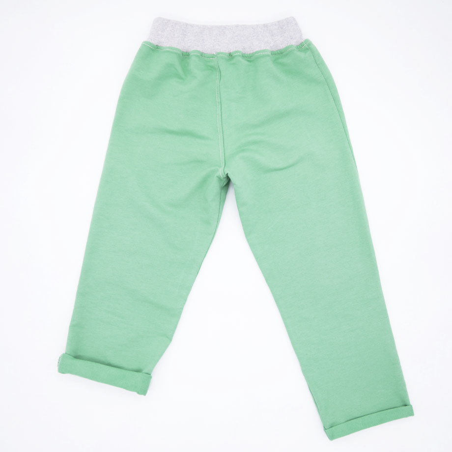 MIMOOKIDS -PULL-ME-UP PANT - APPLE GREY (9)