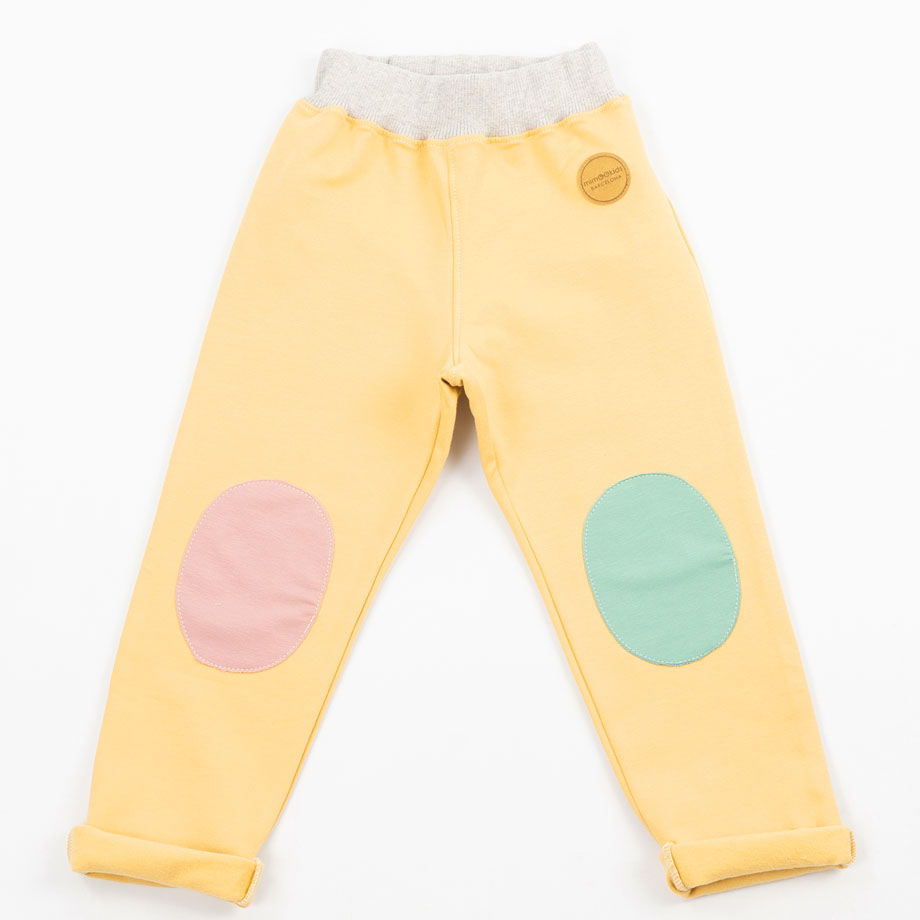 MIMOOKIDS - PULL-ME-UP PANTS - SAND-APPLE-ROSE (5)