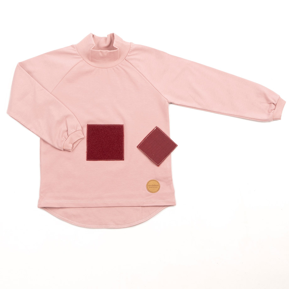 MIMOOKIDS - PLAY WITH ME TURTLE NECK SHIRT-ROSE (4)