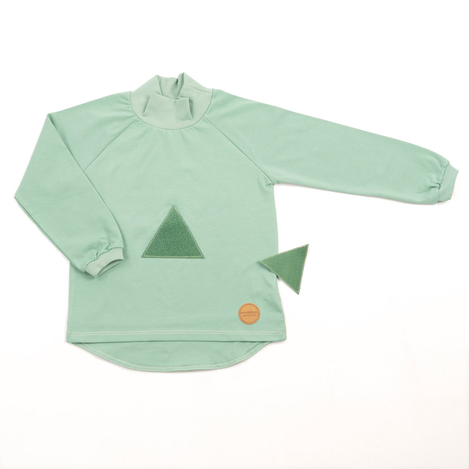 MIMOOKIDS TURTLE NECK PLAY-WITH-ME SHIRT APPLE (3)